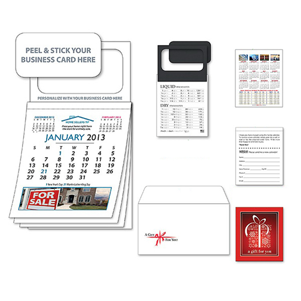 Custom Magnetic Real Estate Calendar - Jan. 2013 w/Cover