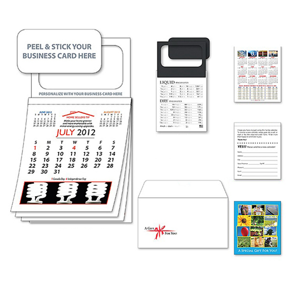 Printed Magnetic Real Estate Calendar - July 2012 w/Cover