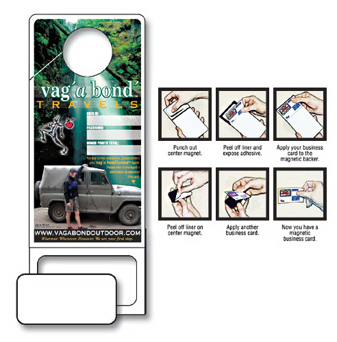 Promotional Doorhanger with Punch-Out Magnet - Custom 3.5x9