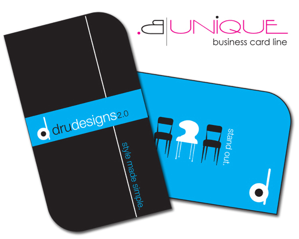 Customized Extra-Thick UV-Coated (1S) Paper Business Card - B. Unique