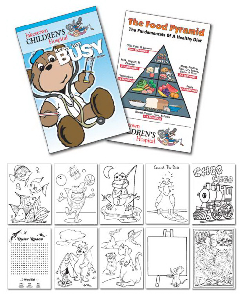 Personalized Activity Coloring Book - 5.5x8.5 - (12-Page Doctor)