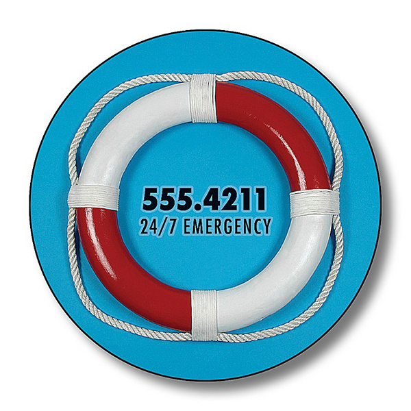 "Imprinted Magnet - 1.5""  Diameter Circle - 25 mil"