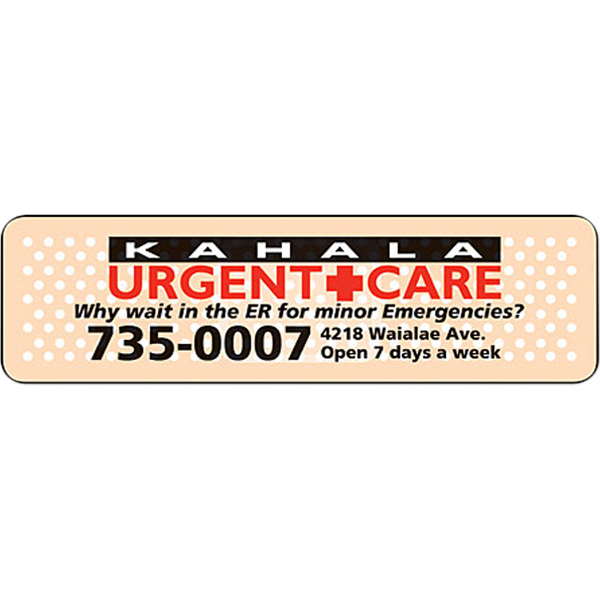 """Imprinted Magnet - 1"""" x 3.5"""" Round Corners - Outdoor Safe"""