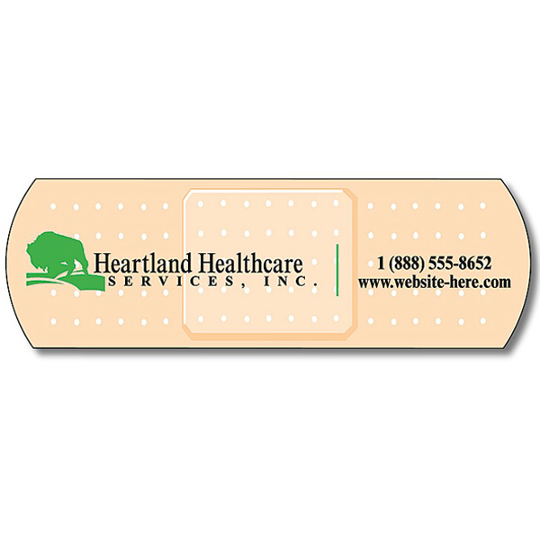 "Customized Health Magnet with Bandage Shape 3.5"" x 1.125"" 25 Mil"
