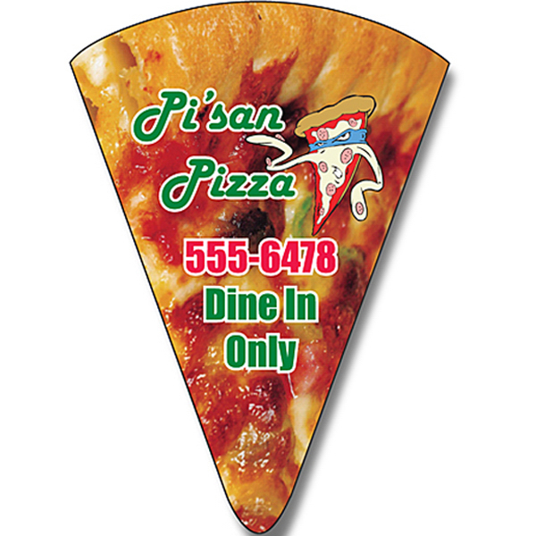 "Personalized Magnet - Pizza Slice Shape (1.875"" x 2.625"") - 20 Mil"