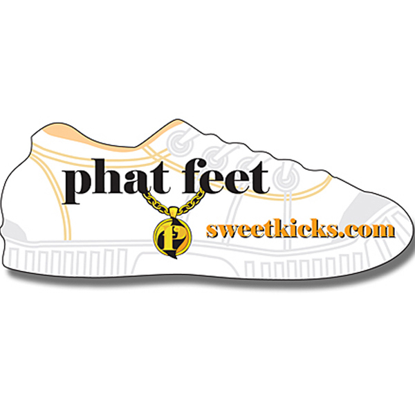 "Promotional Magnet - Shoe Shape (3.5"" x 1.359375"") - Outdoor Safe"