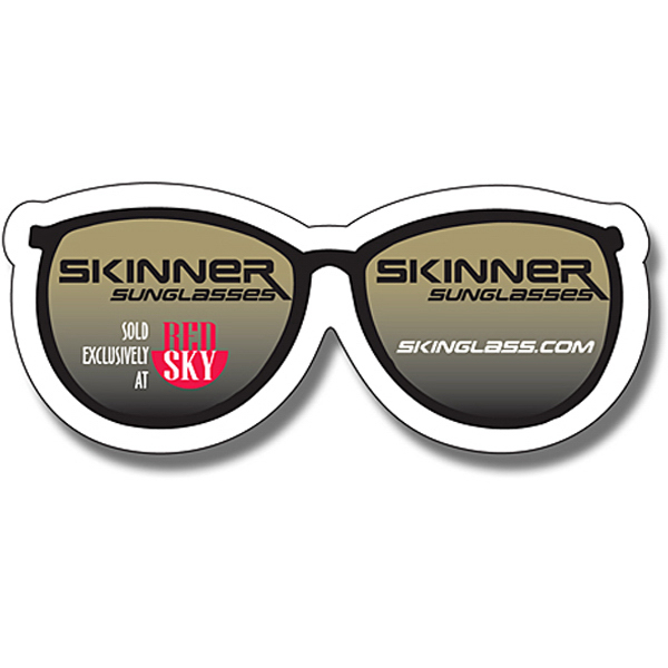 "Personalized Magnet - Eye Glasses Shape (3.25"" x 1.375"") - 20 Mil"