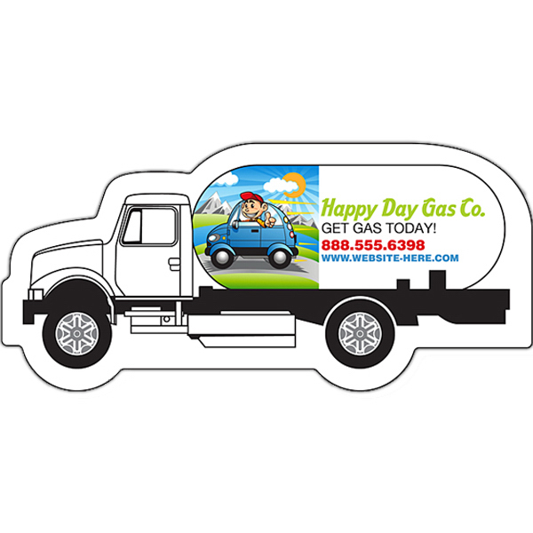"Promotional Magnet - Gas Truck Shape (3.125"" x 1.45"") - Outdoor Safe"