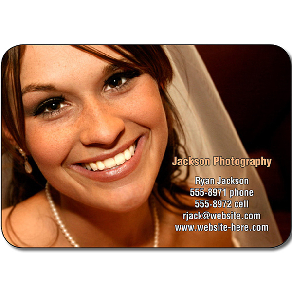 "Personalized Magnet - 2.5"" x 1.75"" Round Corners - 25 mil"