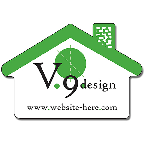 "Personalized Magnet - House Shape (2.75"" x 1.875"") - 30 Mil"