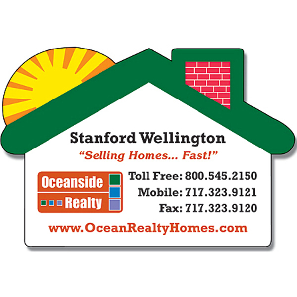 "Promotional Magnet - House w/Round Corner (2.75"" x 1.875"") - 20 Mil"