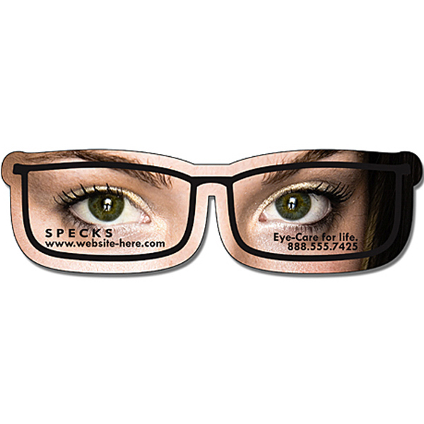 "Customized Magnet - Eyeglasses Shape (4.3125"" x 1.25"") - Outdoor Safe"