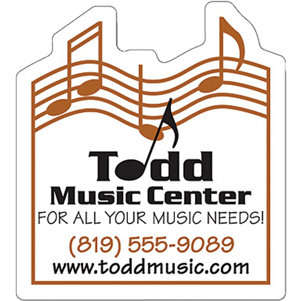 "Promotional Magnet - Music Themed Shape (2.25"" x 2.5"") - 30 Mil"