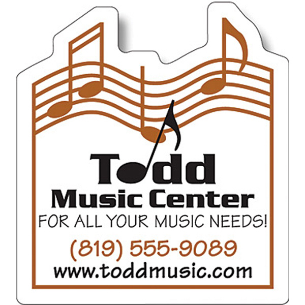 "Personalized Magnet - Music Themed Shape (2.25"" x 2.5"") - Outdoor Safe"