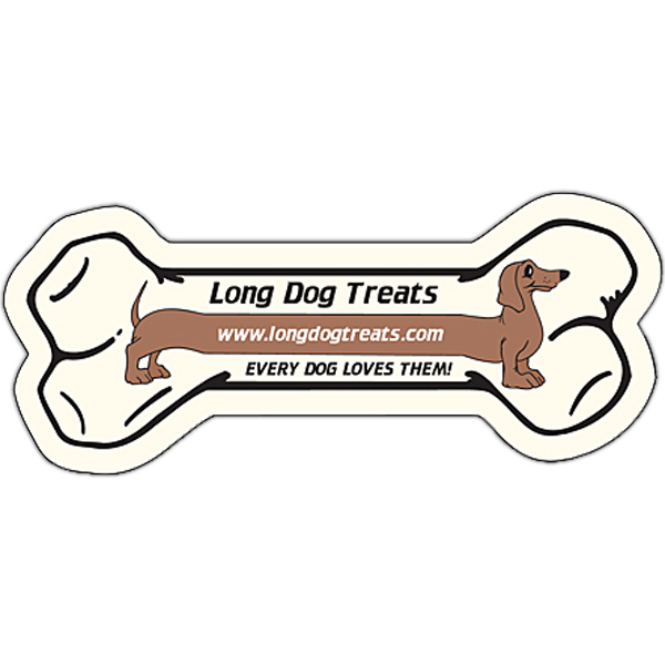 "Promotional Magnet - Bone Shape (3.5"" x 1.5"") - Outdoor Safe"