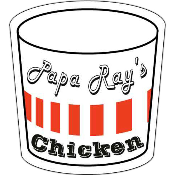 "Personalized Magnet - Food Bucket/Soda Can Shape 2.125"" x 2.625"""