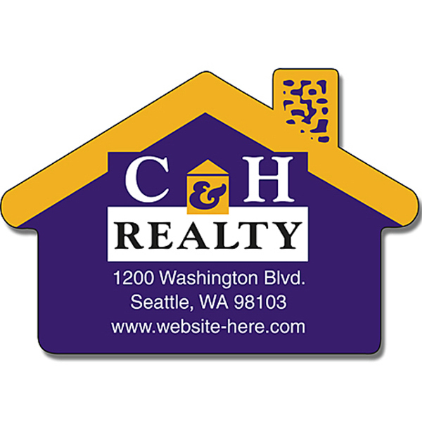 "Promotional Real Estate Magnet with House Shape 2.75"" x 1.875"" 25 Mil"