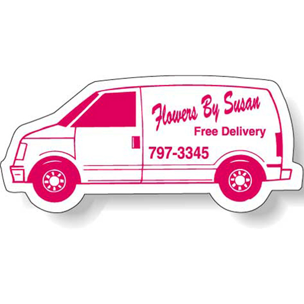 "Custom Magnet - Van Shape (3.5"" x 1.75"") - Outdoor Safe"