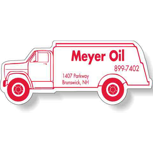 "Imprinted Magnet - Oil Truck Shape (4.125"" x 1.625"") - 20 Mil"