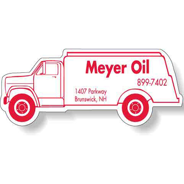 "Customized Magnet - Oil Truck Shape (4.125"" x 1.625"") - 30 Mil"