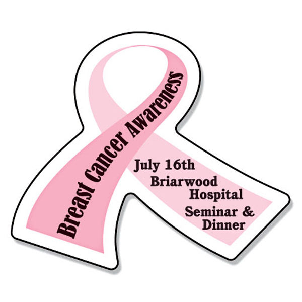 "Promotional Magnet - Awareness Ribbon Shape (2.6875"" x 2.25"") 25 Mil"