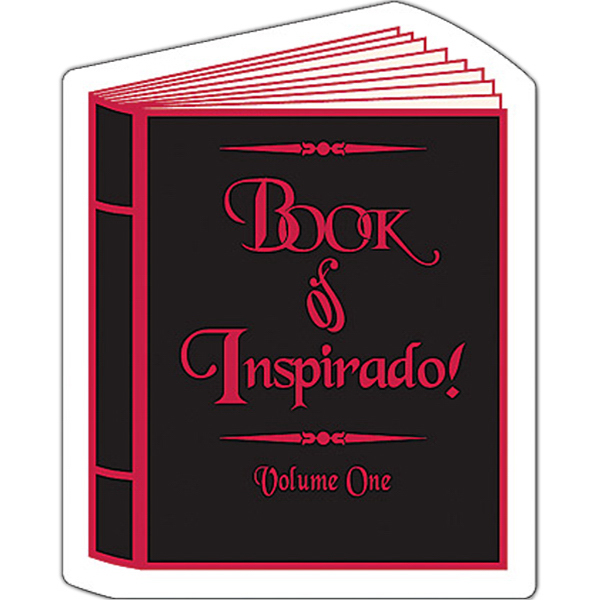 "Imprinted Magnet - Book Shape (2.25"" x 2.875"") - Outdoor Safe"