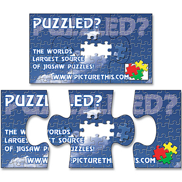 "Personalized Magnet - 3-Piece Puzzle Shape (3.5"" x 2"") - 20 Mil"