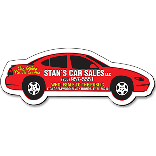 Personalized Magnet-Automobile/Car/Vehicle Shape (4.25x1.5)-Outdoor Safe