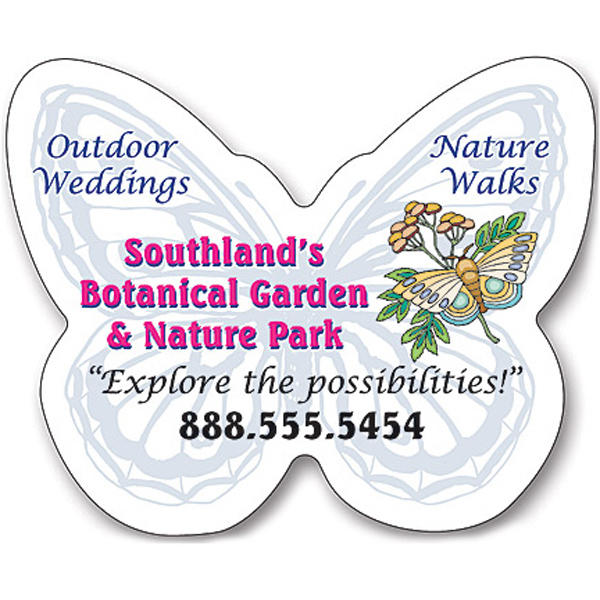 """Promotional Magnet - Butterfly Shape 2.75"""" x 2.5"""" - 25 Mil"""