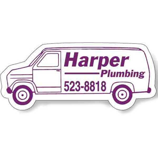 Promotional Magnet - Van Shape (4.125x1.875 - Left Facing) - Outdoor Saf