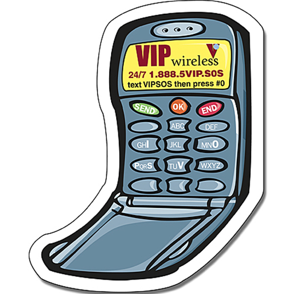 Customized Magnet - Cell Phone Shape (2.5x3.125) - Outdoor Safe