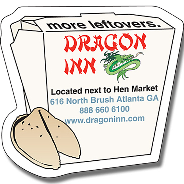 Customized Magnet - Chinese Food Box Shape (2.75x2.625) - 30 Mil
