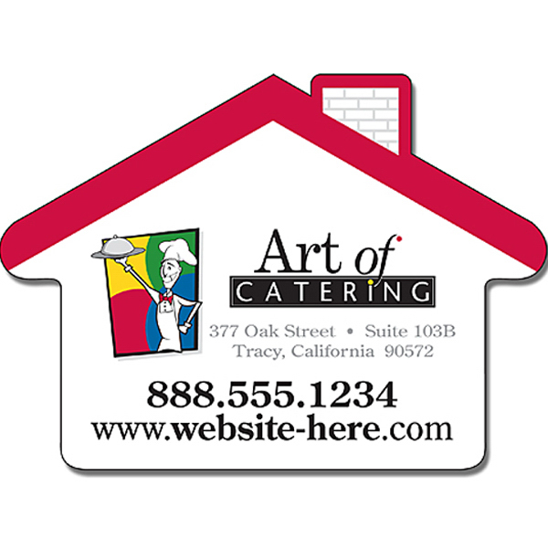 """Personalized Magnet - House Shape (3.5"""" x 2.5"""") - 30 Mil"""