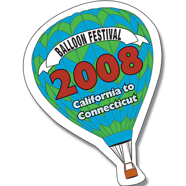 Imprinted Magnet - Hot-Air Balloon Shape (2.375x3.5) - Outdoor Safe