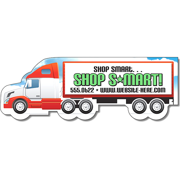 Customized Magnet - Semi Truck Shape (5x1.7) - 30 Mil