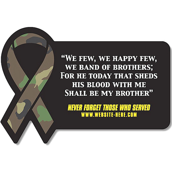 Promotional Magnet - Rectangle with Awareness Ribbon Side - 30 Mil