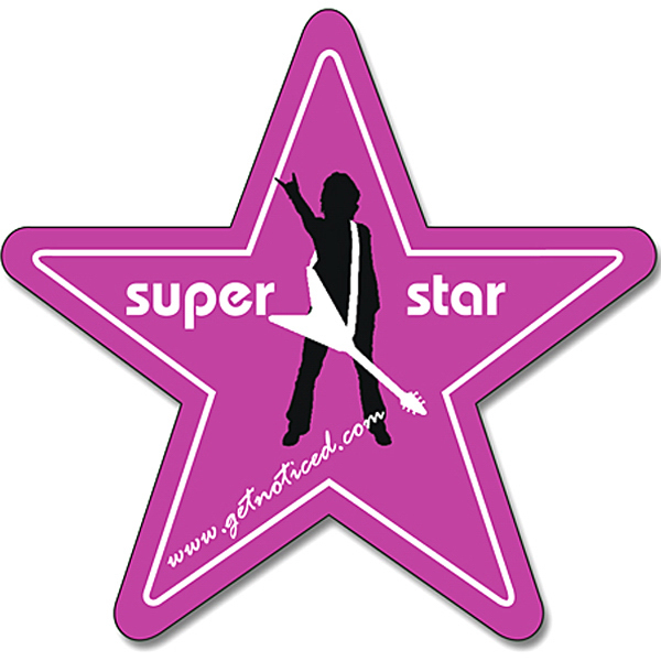 Personalized Magnet - Star Shape (3.125x3) - 30 Mil