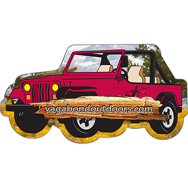 "Customized Magnet- 4 Wheel Drive Vehicle Shape (4.25"" x 2.25"") - 25 Mil"