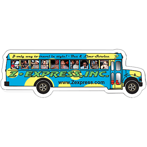 Imprinted Magnet - School Bus Shape (5.25x1.75) - 30 Mil