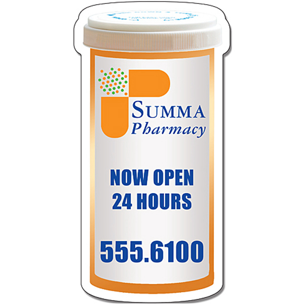 Personalized Magnet - Medicine Bottle Shape (2.25x4.3125) - 30 Mil