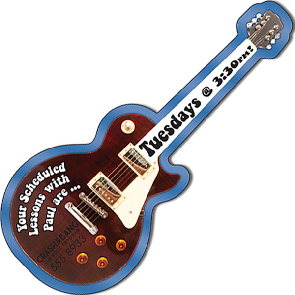 "Customized 5"" x 2.1"" Electric Guitar Shape Magnet"