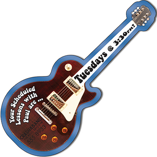 """Printed 5"""" x 2.1"""" Electric Guitar Shape Magnet"""