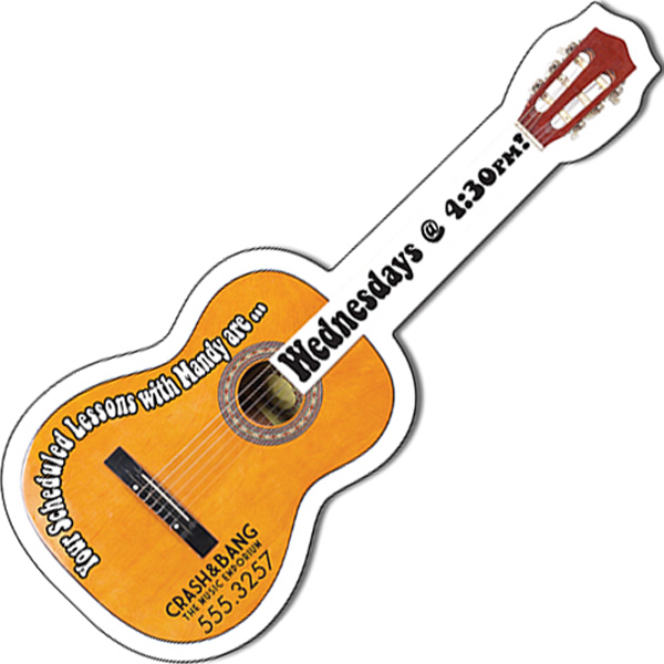 "Promotional Magnet - Acoustic Guitar Shape (5"" x 2"") - 20 Mil"