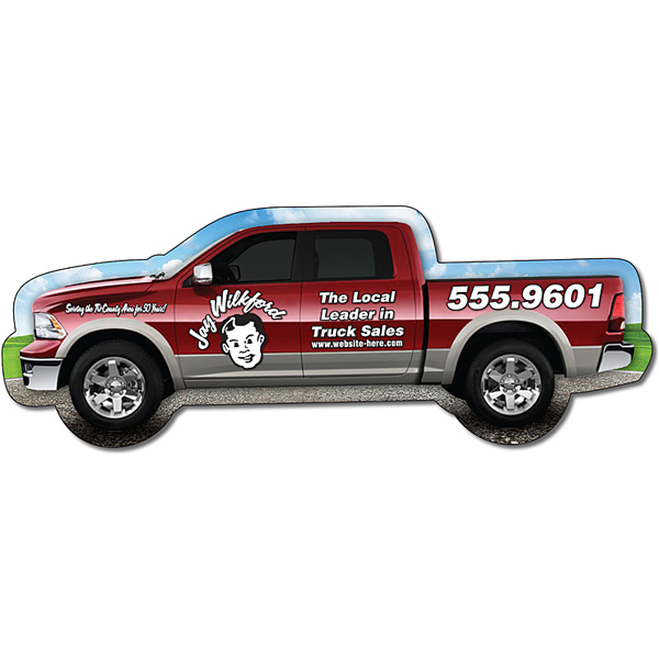 "Printed Magnet - Pickup Truck Shape (5.125"" x 1.9"") - 20 Mil"
