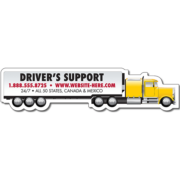 Personalized Magnet-Tractor Trailer Big Rig Semi Truck Shape-Outdoor Safe