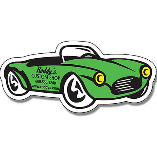 "Imprinted Magnet - Convertible Auto Shape (4.875"" x 2.25"") - 25 Mil"