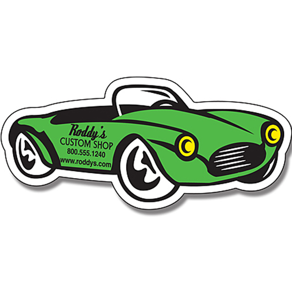"Customized Magnet - Convertible Auto Shape (4.875"" x 2.25"") - 30 Mil"