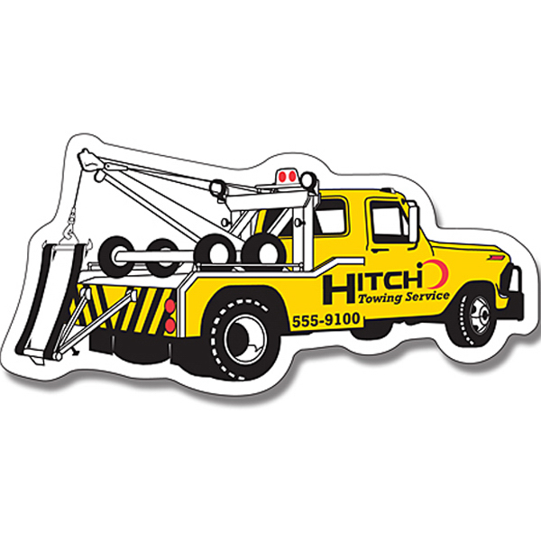 "Personalized Magnet - Tow Truck Shape (4.75"" x 2.25"") - 25 Mil"