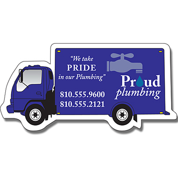 "Custom Magnet - Delivery Truck Shape (4.5"" x 2.25"") - 20 Mil"