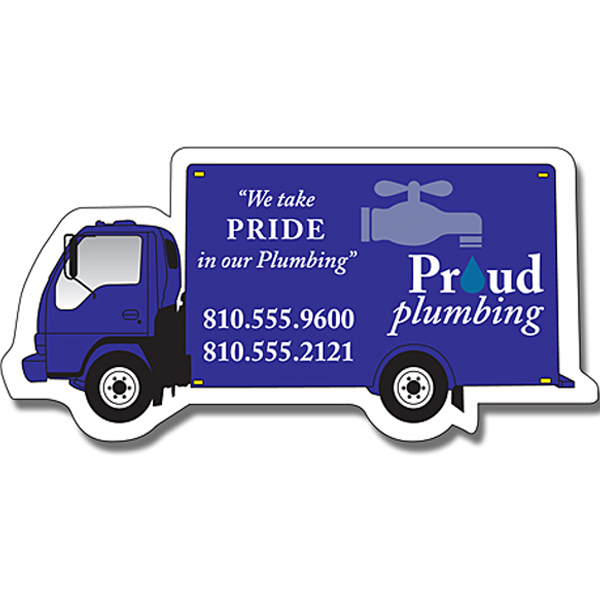 "Custom Magnet - Delivery Truck Shape (4.5"" x 2.25"") - Outdoor Safe"